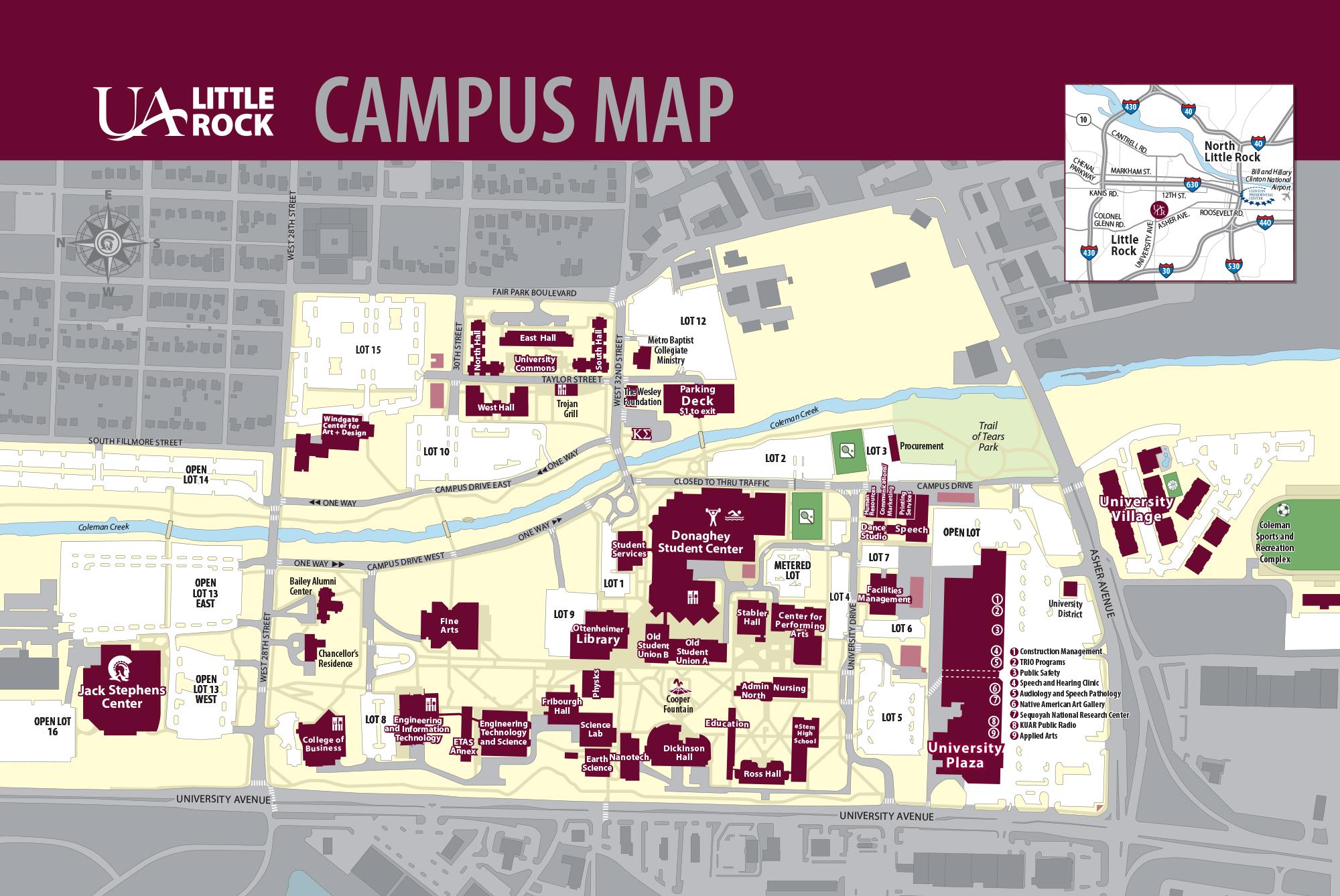 Ualr Campus Map Ualr Campus Map | States Maps